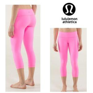 Lululemon Wunder Under Pink Crop Full On Luon 8